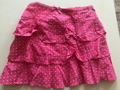 New without tags Girls Mini Boden bright pink spotted tiered skirt, 9-10 years