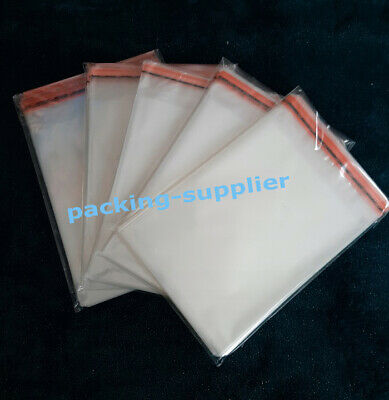 "Clear Cello Bags Cellophane Self Seal For Sweet Cards  1.97""-15.7"" Small Large"
