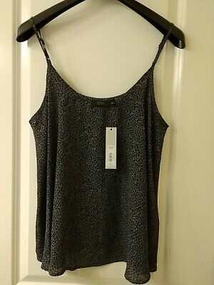 NWT Women's Large Cami / Camisole - Black & Gray  Leopard Print