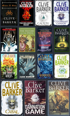 Clive Barker Series AudioBook Collection 📧 Email Delivery 📧