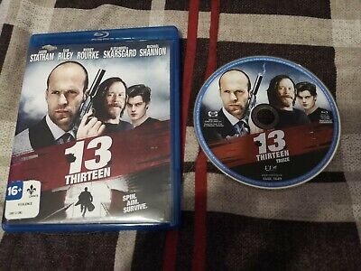 13 Thirteen (Blu-Ray Disc, 2011) Jason Statham, Mickey Rourke