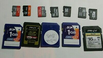 Large Lot of 12 - Mixed Cards/Brands Micro/SD Cards