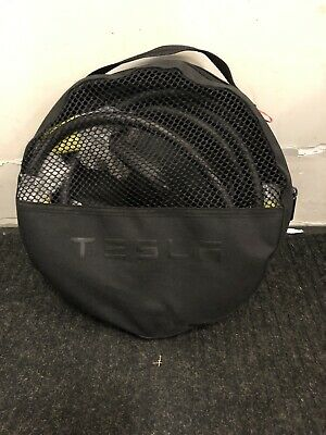 Brand New Tesla travel wall charger OEM cord and travel bag with 2 NEMA adapters