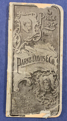 Parke Davis 1898 Catalog 224 pp Pharmaceutical