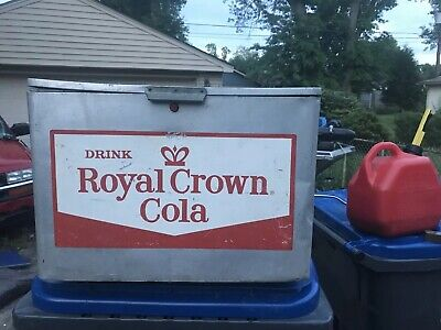 VINTAGE 1950's RC ROYAL CROWN COLA COOLER GREAT  CONDITION