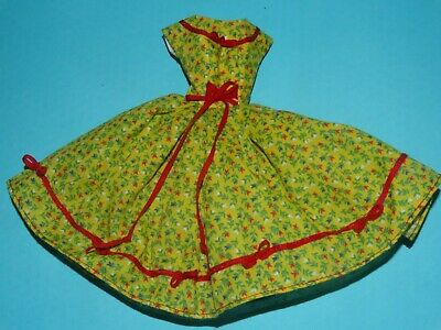 Red & Yellow Dress For Barbie Vintage Doll Reproduction Repro, ooak, new
