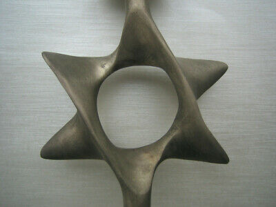 Judaica Pewter Star of David Candleholder Very Nice