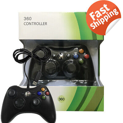USB Wired Game Controller Gamepad Joystick For Microsoft Xbox 360 & PC Gift UK