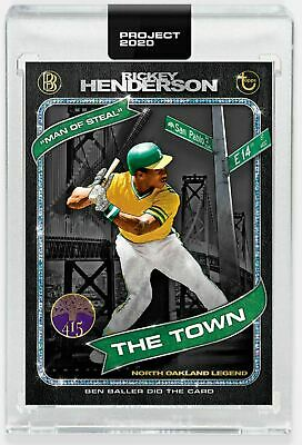 Topps PROJECT 2020 Card 71 - 1980 Rickey Henderson by Ben Baller Pre Sale HOT!