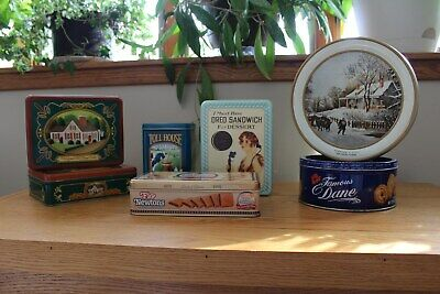 COOKIE TINS Lot of 7