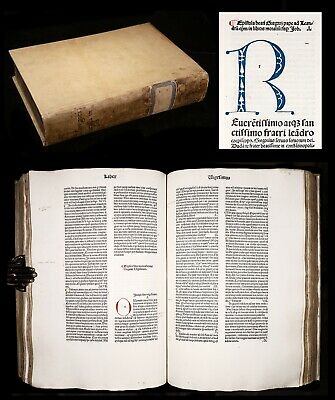 INCUNABLE 1480 GREGORY THE GREAT Moralia on BOOK OF JOB Catholic Theology BIBLE