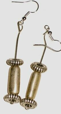 Earrings made of antique silver beads