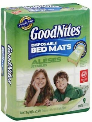 Goodnites Disposable Bed Mats 2 Packs Of 9 Total 18 Mats