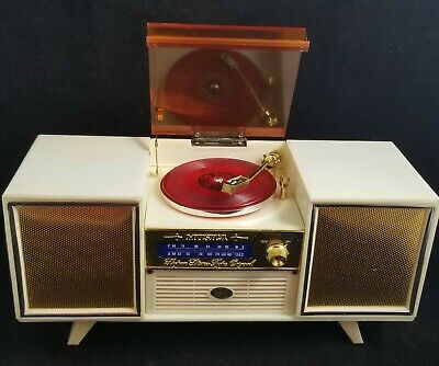 Vintage Music Jewelry Box That Looks & Plays Like a Vintage Stereo Record Player