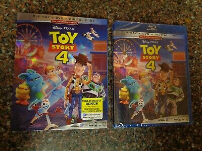 Toy Story 4 (Blu-ray / DVD / Digital Code, 3-Disc Set, 2019) with Slip Cover New