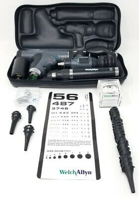 Welch Allyn Diagnostic Set Panoptic Ophthalmoscope with accessories and extras