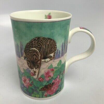 Floral Cat by Jenny Quinn Fine Bone China Coffee Tea Mug Cup Wren Giftware