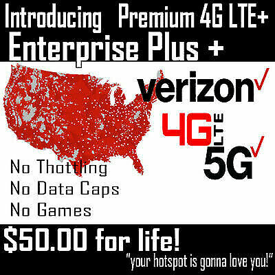 Verizon Unlimited Hot Spot IMEI number & SIM Card $50 a month. Grandfathered.