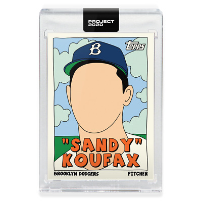 PRESALE Topps Project 2020 #76 Sandy Koufax Dodgers by Fucci SP PR 6607 🔥