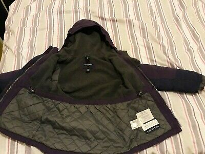 Girls Lands End Squall Coat 4-5 years