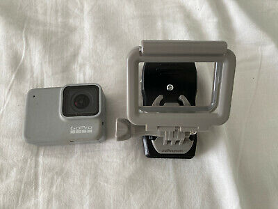 GoPro HERO7 HD Action Camera - White (With Mount And Hat Clamp)