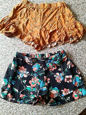 Two Pairs Of Girls Summer Shorts Age 7 Years Next And River Island.