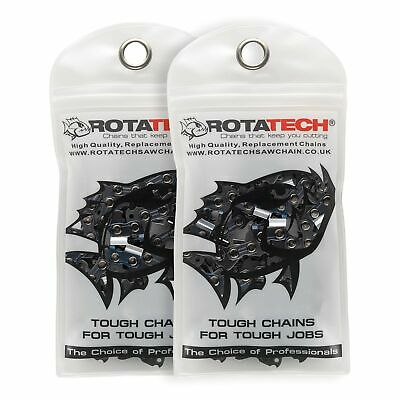 """Rotatech x2 Genuine Chainsaw Chain for ParkerBrand Parker 62CC 20"""" PETROL CHA..."""