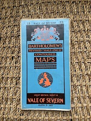 Collectible Bartholomews Half-Inch Contoured Map, Sheet 18, Cloth