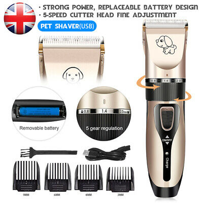 Electric Pet Grooming Clipper Cordless Dog Hair Shaver Thick Fur Nail Trimmer UK