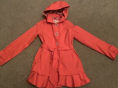 Michael Kors Girls Trench Coat - Coral - Age 10-12 Years - New