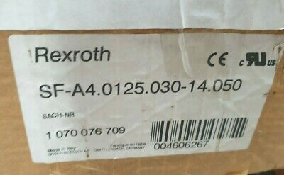 Rexroth  1070076709 Sf-A4.0125.030-14.050  Brushless Permanent Magnet Motor (Rbd