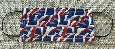 Mouth & Face Mask Protection Reusable Washable Cotton Union Jack UK made Adult