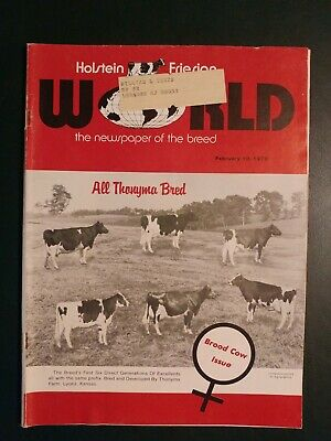 Holstein World 1978 Brood Cow Issue + Thonyma Farm + Great Brood Cows + Et