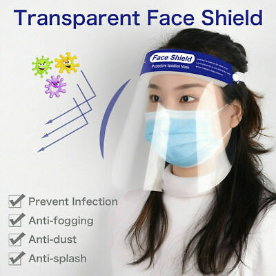 6 pcs Safety Full Face Shield Clear Protector Work Industry Dental Anti-Fog