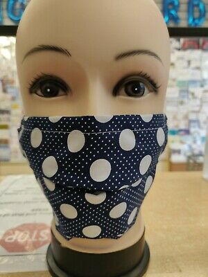 5 PACK DOUBLE LAYERED FACE MASK / WASHABLE/ REUSABLE /100% COTTON / Free POSTAGE