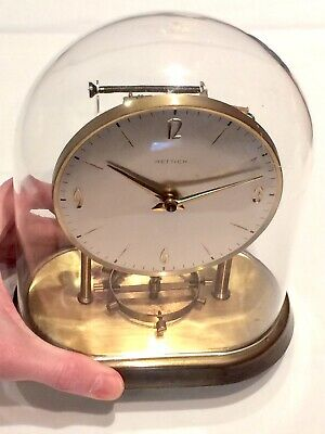 Vintage German HETTICH Rare Movement Electronic Weight Driven Clock: Two Jewels
