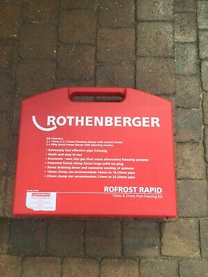 Rothenberger Rofrost Rapid Pipe Freezing Kit - 15 & 22mm