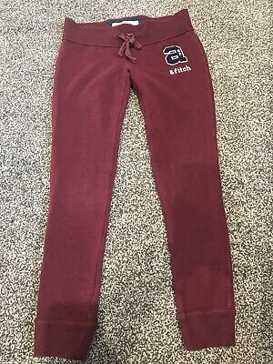 Girls Abercrombie And Fitch Slim Leg Tracksuit Bottoms Size Medium