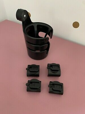 Bugaboo Cup Holder Fits Bee Cameleon Buffalo Donkey Fox Includes All Clips