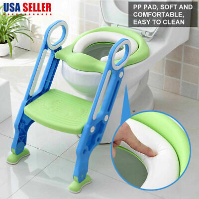 Baby Kids Potty Training Seat w/ Step Stool Ladder Child Toddler Toilet Chair