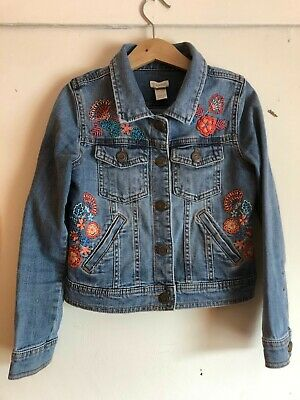 Monsoon Girls Embroidered Denim Jacket Age 7-8