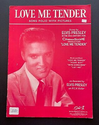 Elvis Presley Sheet Music Love Me Tender 1956 Song Folio With Pictures