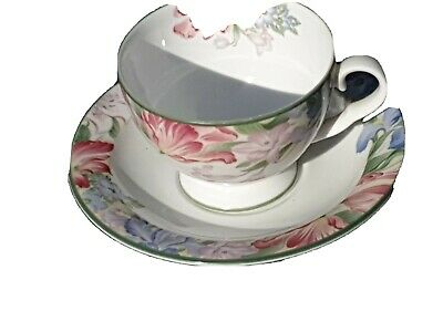 Royal Albert Bone China Pretty Floral Fonteyn Cup and Saucer