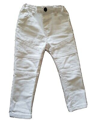 River Island Baby Boy White Jeans 18-24 Months Skinny, Cotton