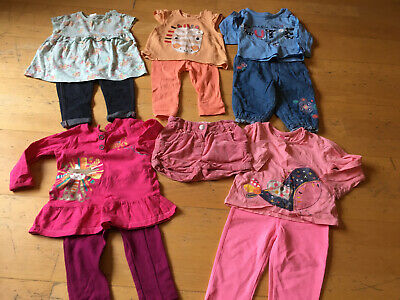M&Co Nutmeg Ted Baker Baby Girls Bundle 5 Outfits 6-9 Months
