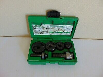 "Greenlee 7235BB manual knockout punch kit 1/2"" to 1 1/4"" Conduit - Slug Buster"