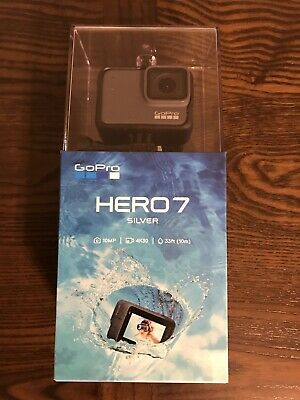 GoPro HERO7 Silver, 10MP, 33ft Waterproof, 4K30 Camera Commander, Brand New