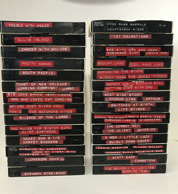 Lot of 28 Blank Pre-Recorded VHS Tapes Movies 80s & 90s Vintage Huge Variety