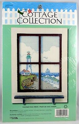 Cottage Collection Lighthouse Phare Counted Cross Stitch needle Point NIB