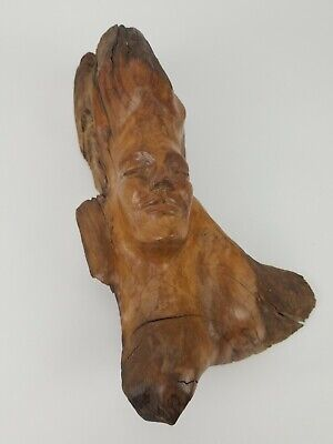Vintage Drift Wood Carving TURNBULL HAWAII Hawaiian 1971 Beauty Signed